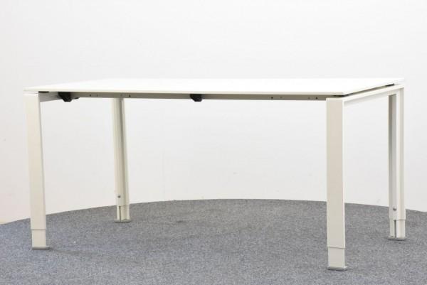 Schreibtisch, 75x150, weiß, höhenverstellbar, gebraucht