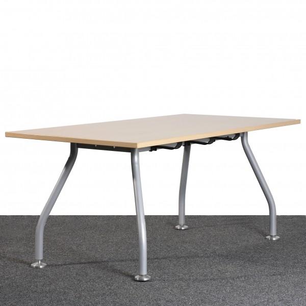 Schreibtisch Tisch Ahorn silber  gebraucht Büro 36174