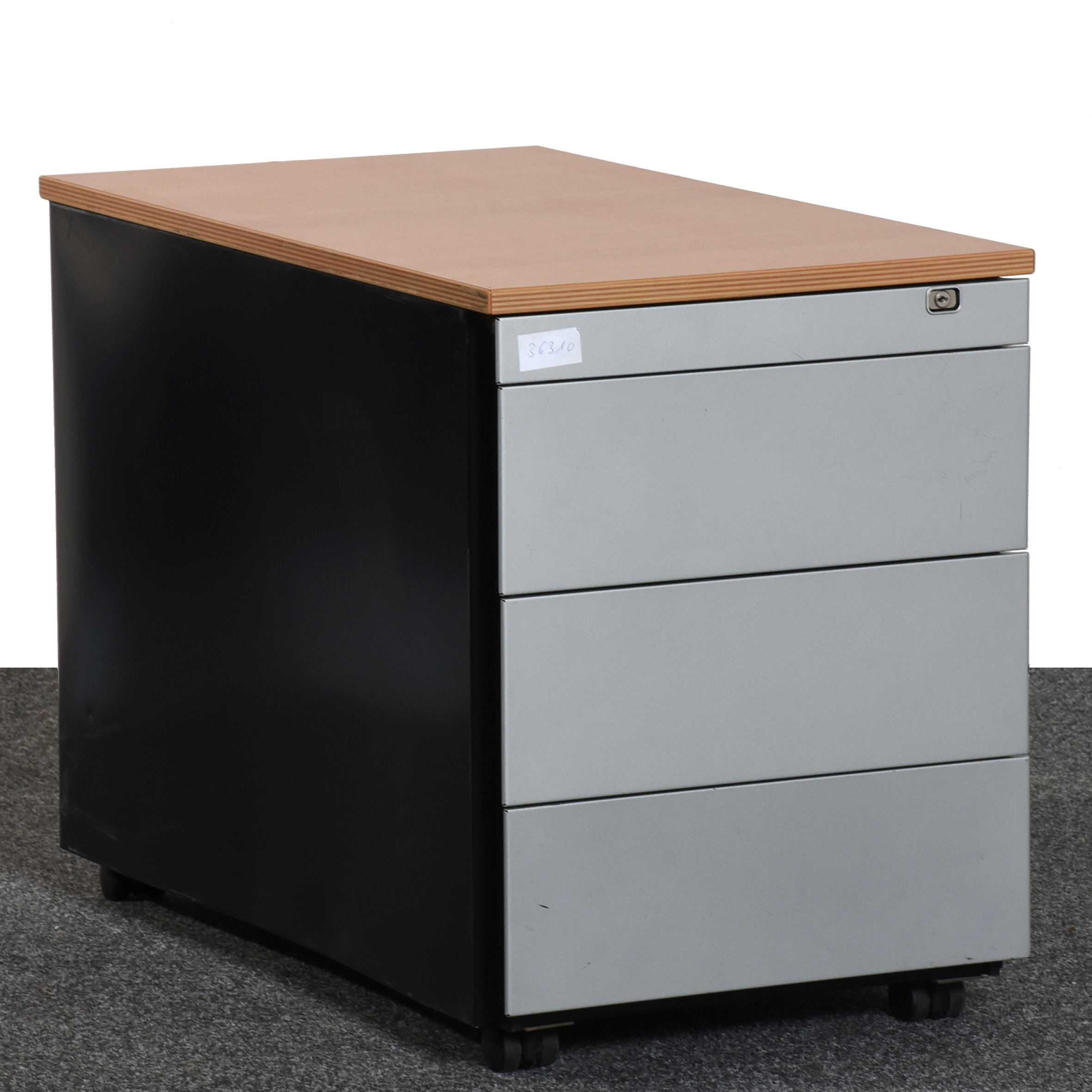 Cool Rollcontainer Metall Reference Of Ronis Buche Schwarz Schubladen Gebraucht Büro 36310