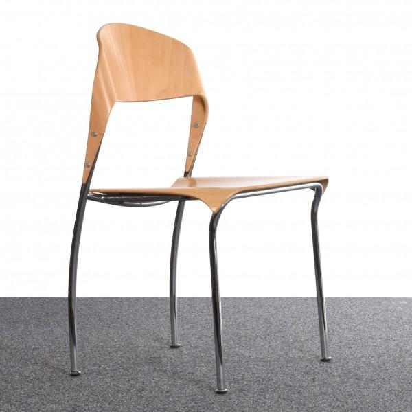 stapelstuhl geschwungene r ckenlehne buche gebraucht gebraucht gut. Black Bedroom Furniture Sets. Home Design Ideas