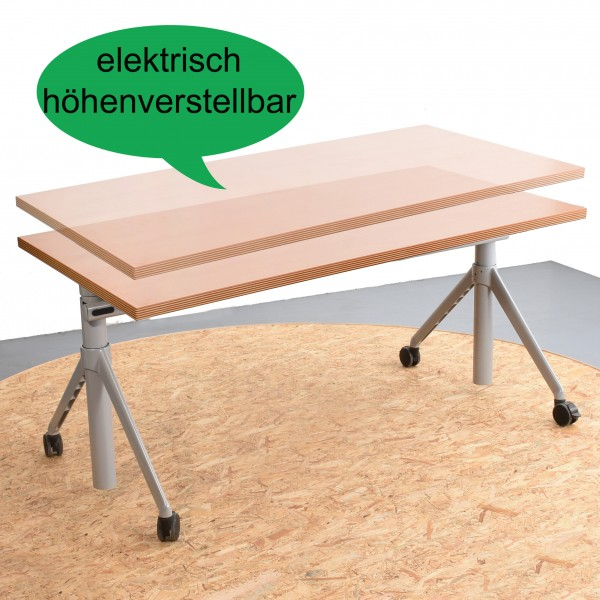 steelcase schreibtisch elektrisch h henverstellbar 80x160 rollen buche gebraucht. Black Bedroom Furniture Sets. Home Design Ideas