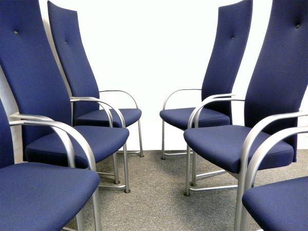 Besprechungsstuhl Design Fritz Hansen hohe Rückenlehne, gebrauchte Büromöbel