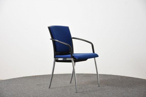 K&N Besucherstuhl, blau, 4 Fuß, gebraucht