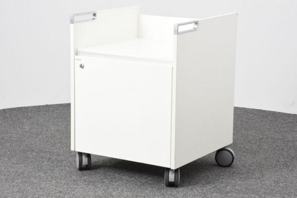 Bene Rollcontainer, weiß, 1 Schrankfach, gebraucht