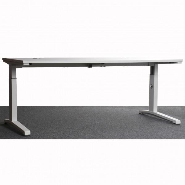 Steelecase Schreibtisch, weiß, höhenverstellbar, gebraucht