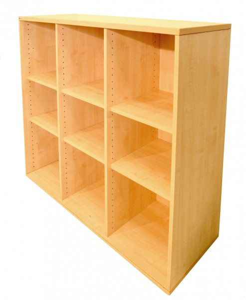 Aktenregal 3OH, Palmberg, 110x120cm, Ahorn, gebrauchte Büromöbel