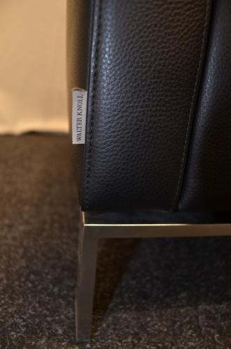 sessel walter knoll foster 501 schwarzes leder chromf sse ebay. Black Bedroom Furniture Sets. Home Design Ideas