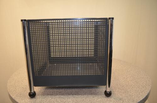 aufbewahrungsbox metall grau f e verchromt ebay. Black Bedroom Furniture Sets. Home Design Ideas